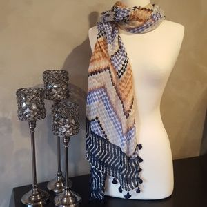 Globetrotter Modal Silk Rectangle Tassle Scarf